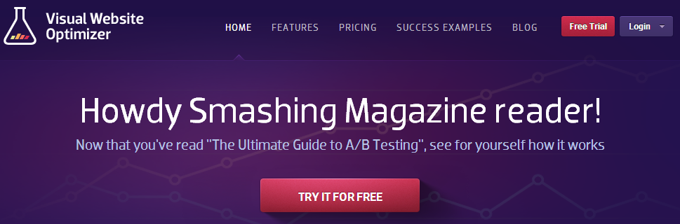 Visual Website Optimizer Smashing Magazine test