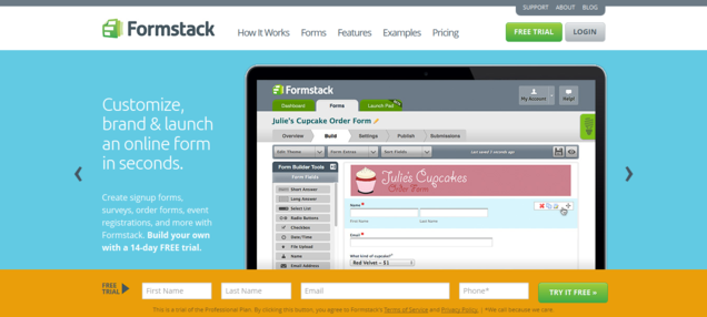 FormStack Homepage