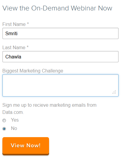 Open-ended form field added to improve leads quality
