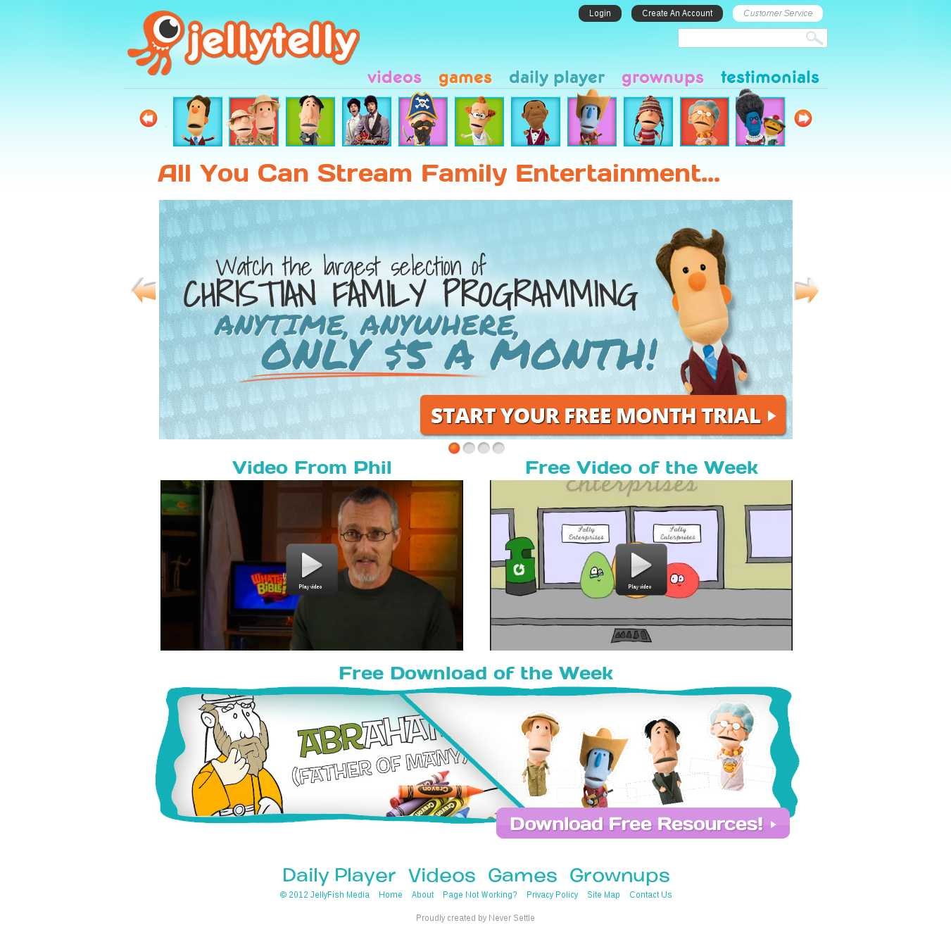 Jelly Telly Original Page