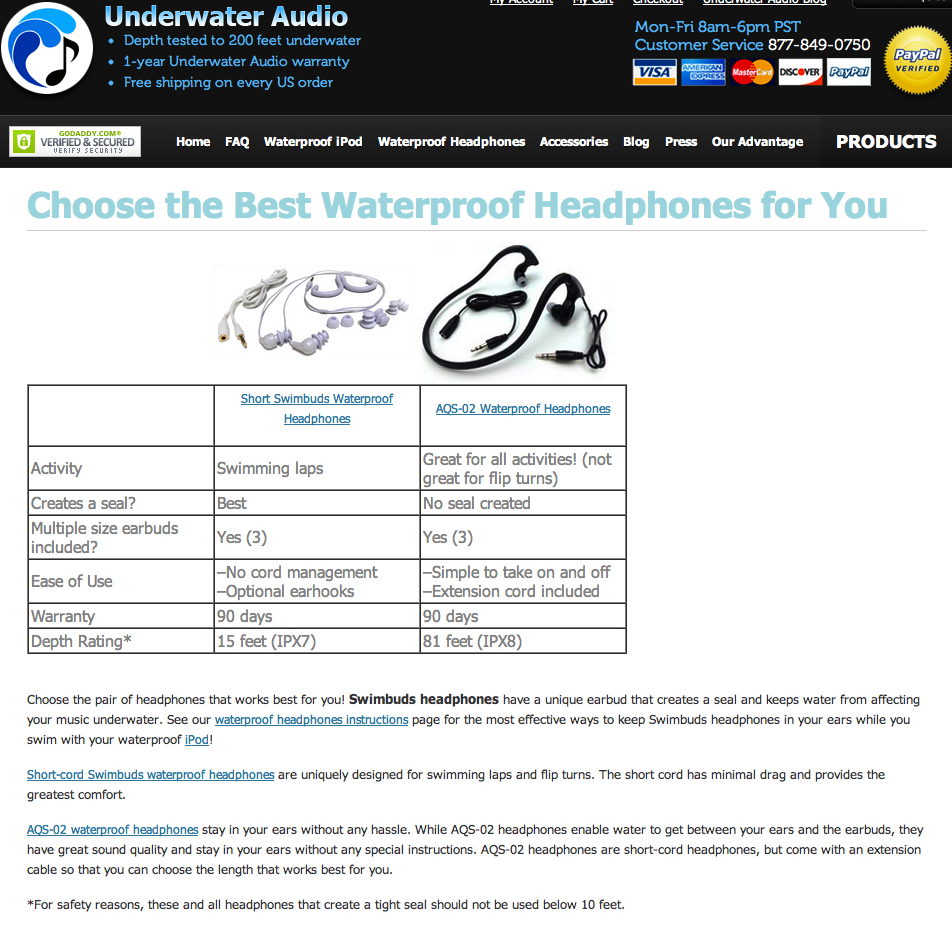 Underwater Audio Control Page