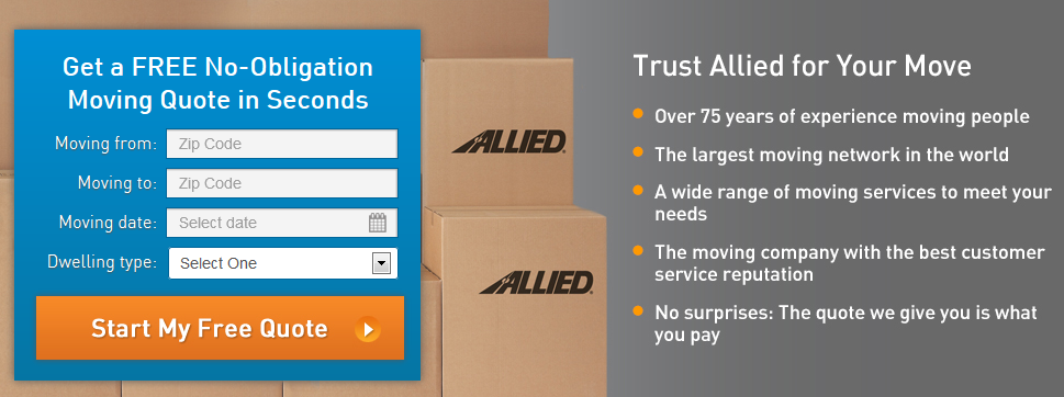 Allied Movers do not ask for any sensitive information on first interaction