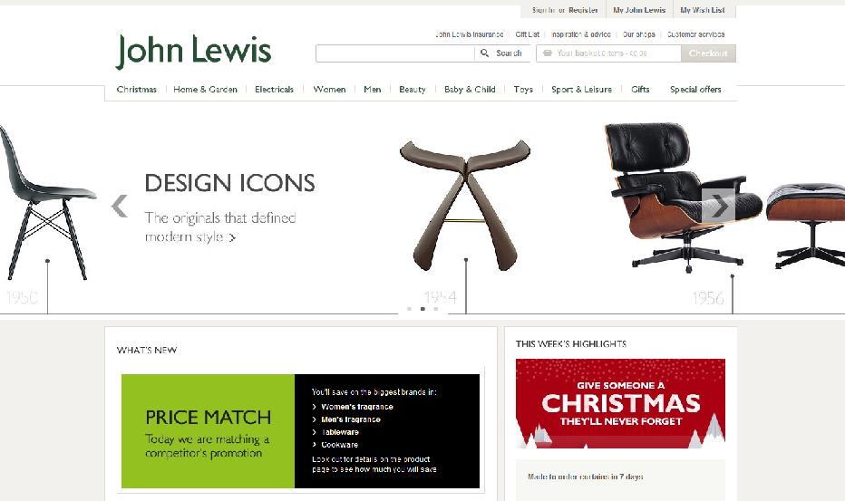John Lewis offers assure its customers of the best deals by providing them a price match guarantee