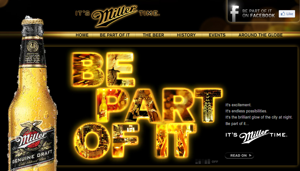 Miller Beer brand doesn't emphasize low price in their message