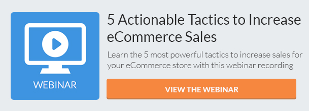 Tactics to Increase eCommerce Sales (Webinar) CTA