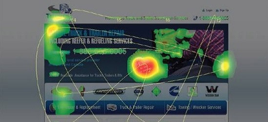 Heatmap of TechWyse landing page shows focus on the dead weight
