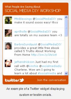 Twitter testimonials widget