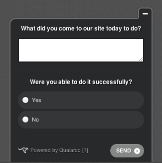 On-site survey questions