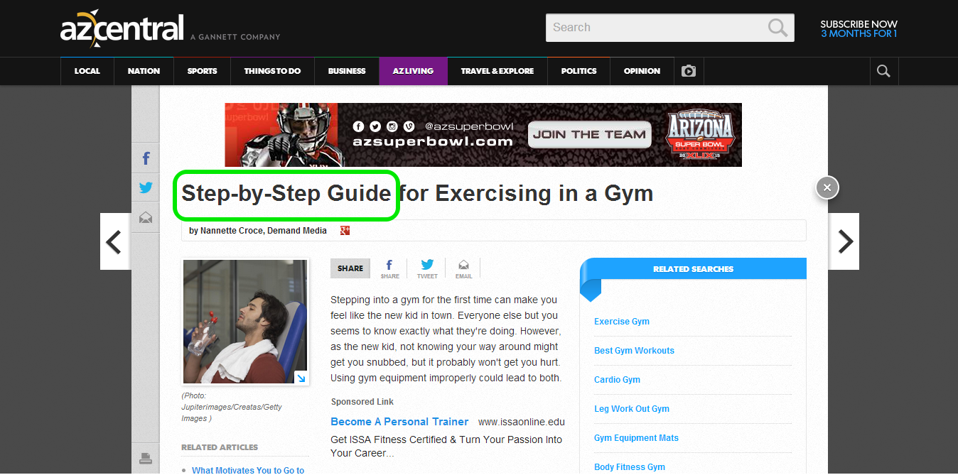 A screenshot of a headline which conveys ease of use by adding the words 'Step-by-step guide'