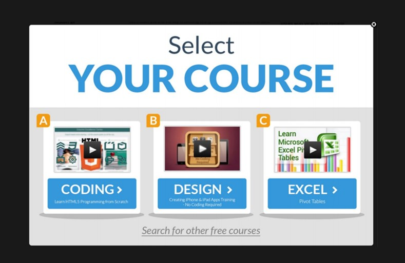 Redirect to More Relevant Content - Udemy
