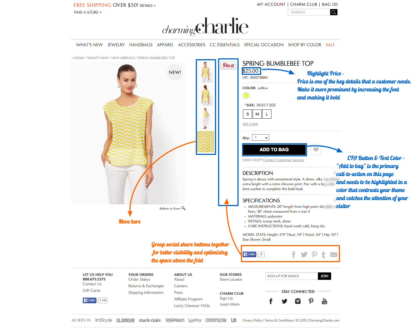 Product Page Proposed Changes
