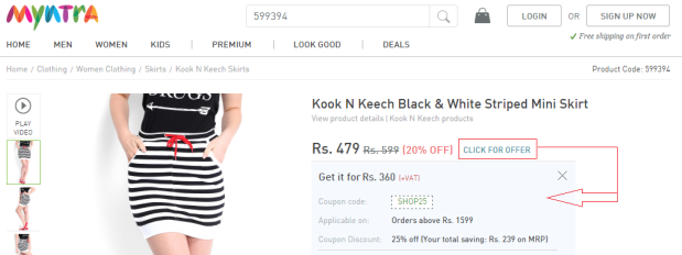 Promo-code by Myntra