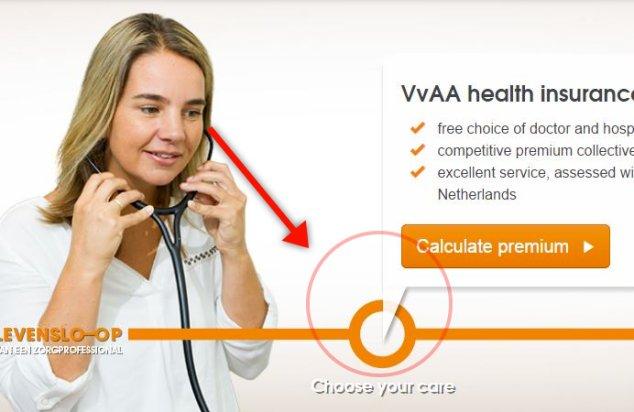 A/B test for VVAA website - Lady's gaze
