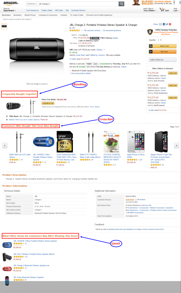 How Amazon Does Upsell, Cross-sell and Bundling
