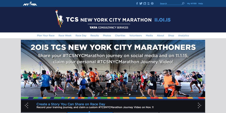 NYC Marathon microsite