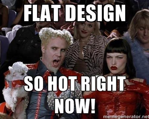 Flat Design Meme