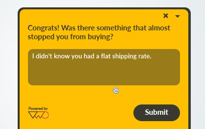 VWO On-page surveys