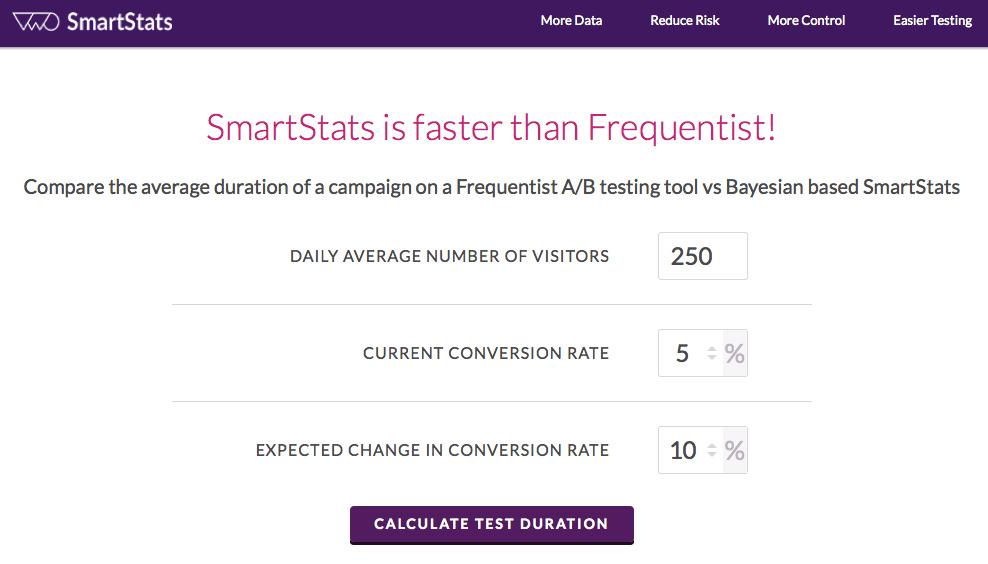 VWO A/B Test Duration Calculator