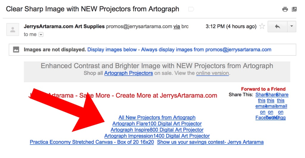 Using alt text for images in emails