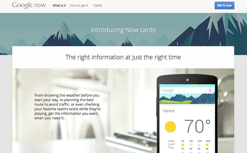 Example of Google's material design