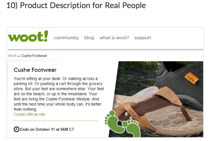 VWO post on 14 Best Practices for eCommerce product page