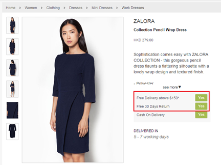 Zalora's Variation Page in an A/B Test (1)