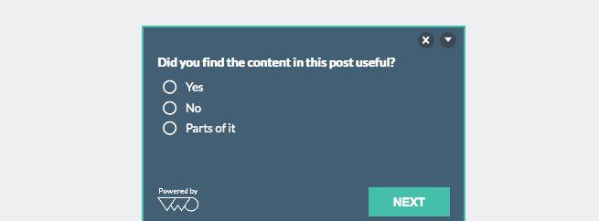 Website Survey on VWO blog posts