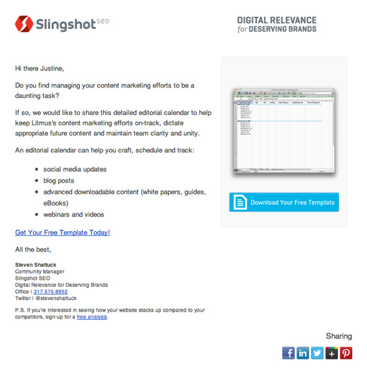 Email personalization for lead nurturing campaign