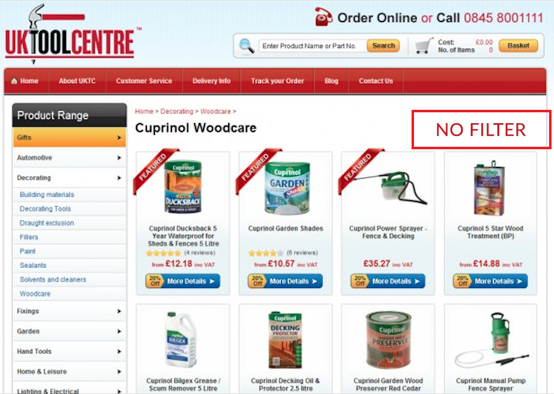 Removing navigation bar from eCommerce landing page - Case Study (2)