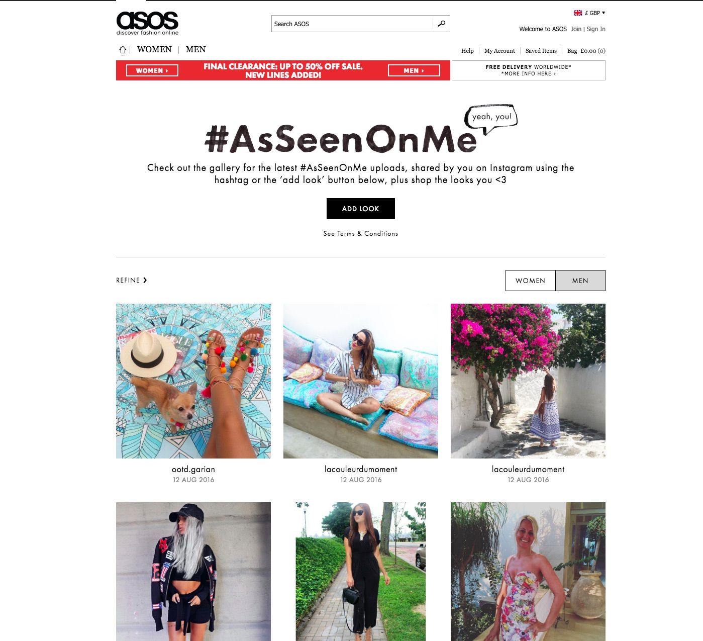 ASOS Customer Engagement with UGC