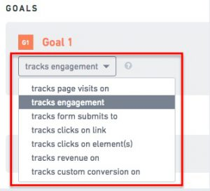 creating personalization goal