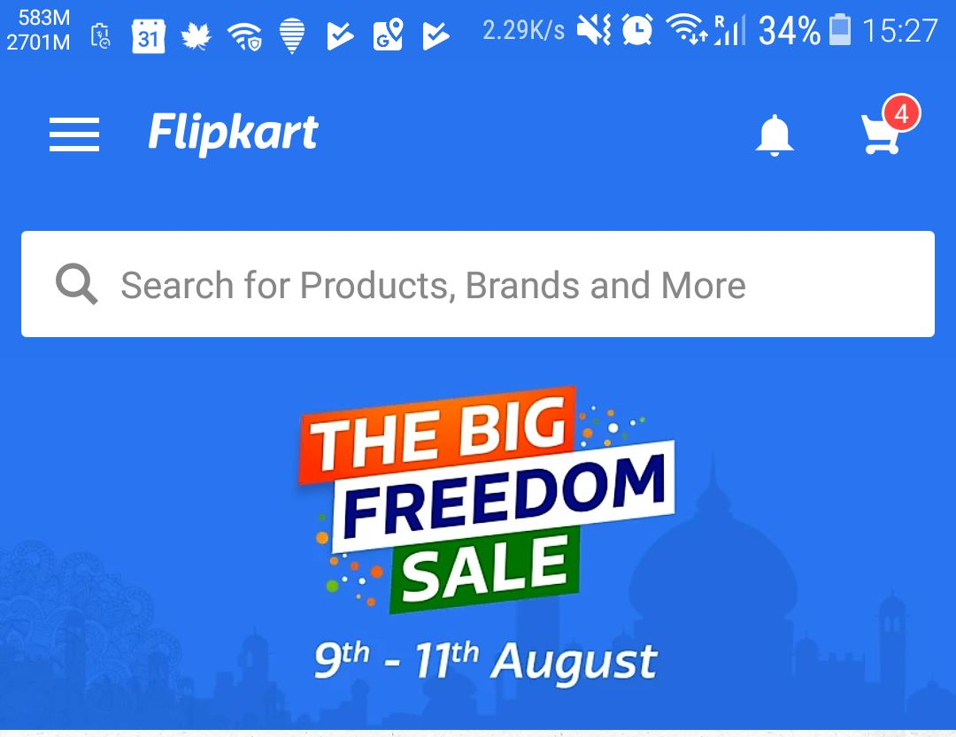 Freedom Sale Flipkart