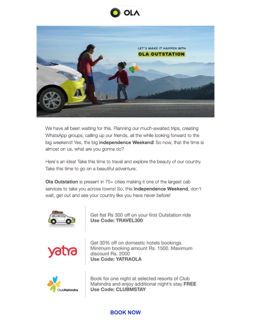 Ola Outstation Email